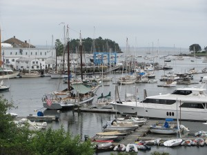 Camden Harbor from Library Hill.  Photo by Sharon Lee