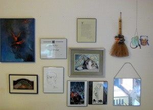 The uncluttered wall over my desk.
