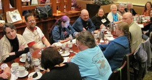 The Friends of Liad Breakfast on Saturday morning.