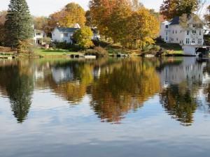 Reflective Messalonskee Lake Oct 21 2015