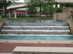 Part of the water garden at McKelden Plaza, Light Street, Baltimore